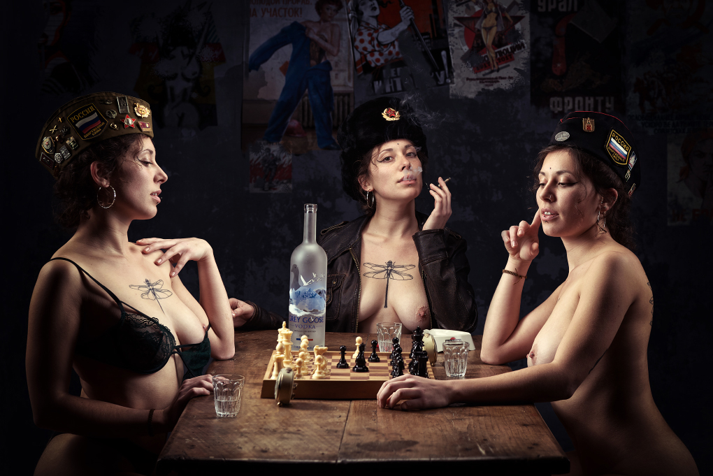 Russian ladies playing chess - photo by joao azevedo